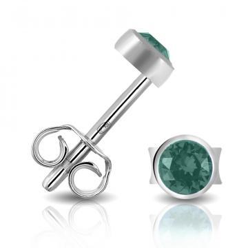 Серьги-пусеты TALANT из серебра с кристаллами SWAROVSKI