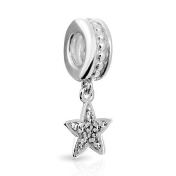 Подвеска-шарм Звезда SOKOLOV с фианитами из серебра