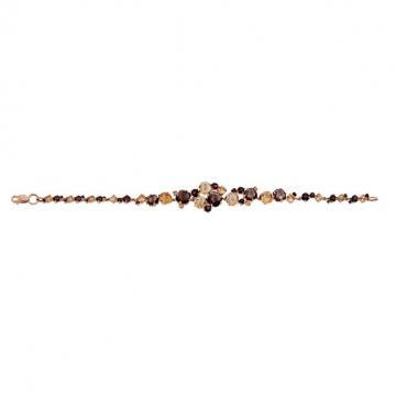 Браслет из золота с раух-топазами и цитринами