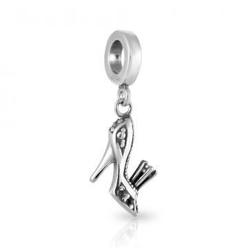 Подвеска-шарм Туфля из серебра с фианитом