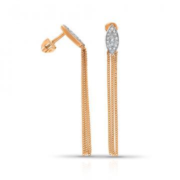 Серьги TALANT из золота с бриллиантами