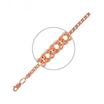 Цепочка, плетение Ромб двойной, из серебра