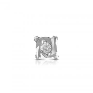 Серьга-пусета из золота с бриллиантом
