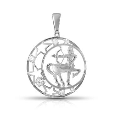 Подвеска SOKOLOV из серебра с фианитами, знак зодиака Стрелец