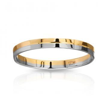Кольцо обручальное из золота гладкое, синтеринг, 3 мм