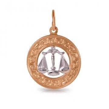 Подвеска из золота, знак зодиака Весы