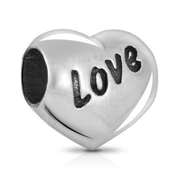 Подвеска-шарм Сердце из серебра