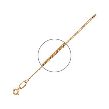 Браслет, плетение Ромб двойной, из золота