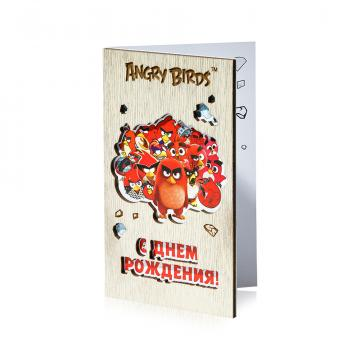 Открытка Angry Birds Ред