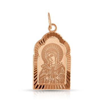Подвеска-икона Божией Матери Семистрельной из золота