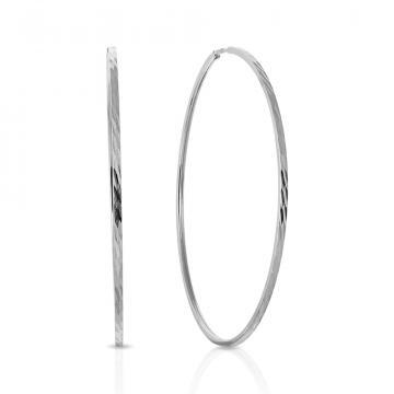 Серьги-конго из серебра, 50 мм