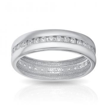 Кольцо SOKOLOV обручальное из серебра с фианитами