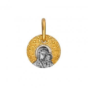 Подвеска-икона Божия Матерь Казанская из серебра
