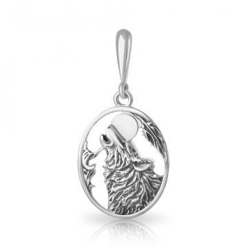 Подвеска Волк из серебра