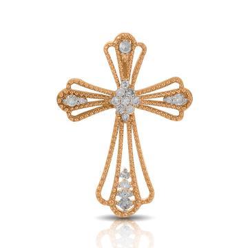 Подвеска-крестик из золота с бриллиантами