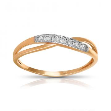Кольцо TALANT из золота с фианитами