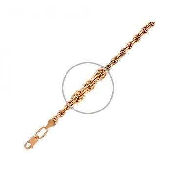 Браслет, плетение Веревка, из золота