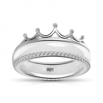 Кольцо из серебра с керамикой