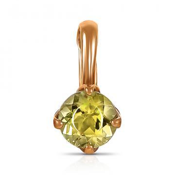 Подвеска TALANT из золота с хризолитом