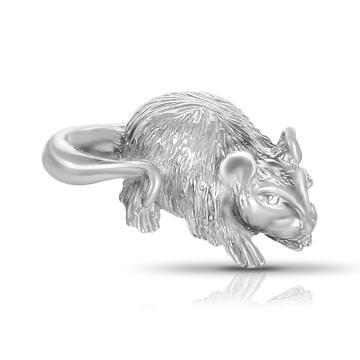 Кошельковый талисман Мышь из серебра