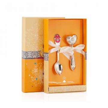 Набор детский Сердце (2 предмета) из серебра