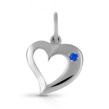 Подвеска Сердце из серебра с алпанитом