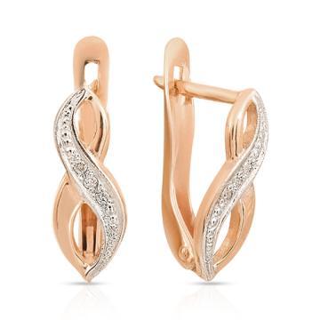 Серьги из золота с бриллиантом