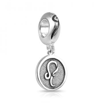 Подвеска-шарм, знак зодиака Лев, из серебра
