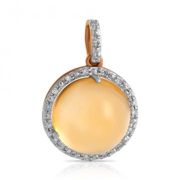Подвеска из золота с цитрином и бриллиантами