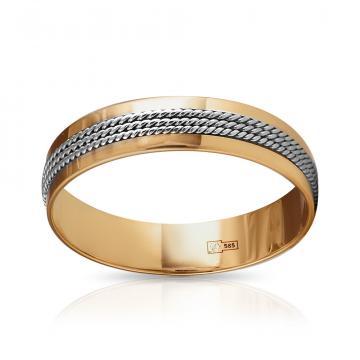 Кольцо обручальное Косы, премиум, 5.5 мм