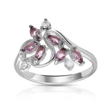 Кольцо TALANT из серебра с ювелирными кристаллами и фианитами
