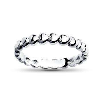 Кольцо Сердечки SOKOLOV из серебра