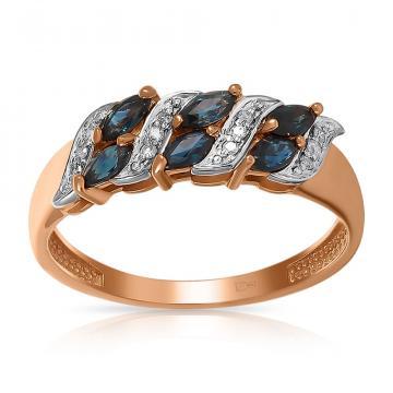 Кольцо TALANT из золота с сапфирами и бриллиантами