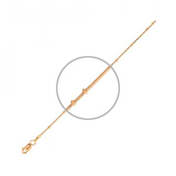 Цепочка, плетение Тондо, из золота с шариками