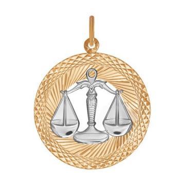 Подвеска SOKOLOV из золота, знак зодиака Весы