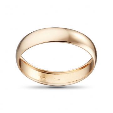 Кольцо обручальное из золота, бухтированное, 5 мм