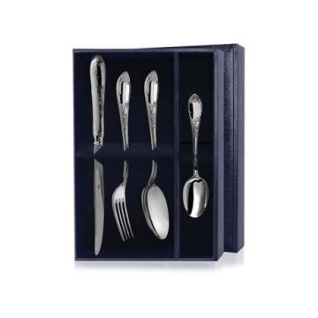 Набор столовый Престиж (4 предмета) из серебра