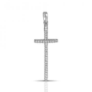Подвеска-крестик SOKOLOV из серебра с фианитами
