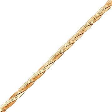 Браслет, плетение Косичка, из золота