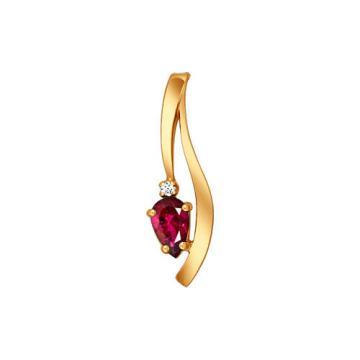 Подвеска SOKOLOV из золота с рубином и бриллиантами