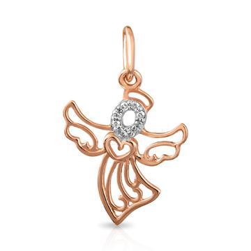 Подвеска Ангел из золота с бриллиантами