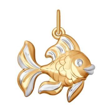 Подвеска SOKOLOV Золотая рыбка из золота
