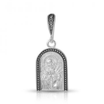 Иконка Божией Матери Семистрельной из серебра