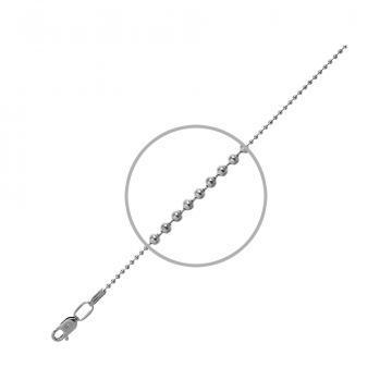 Цепочка, плетение Перлина, из серебра