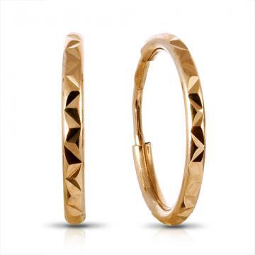 Серьги-конго из золота