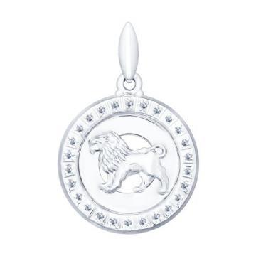 Подвеска SOKOLOV из серебра с фианитами, знак зодиака Лев