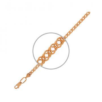 Цепочка, плетение Ромб двойной, из золота