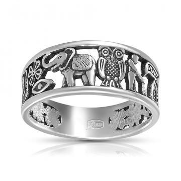 Кольцо Удача из серебра