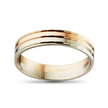 Кольцо обручальное из золота, синтерин, 4 мм