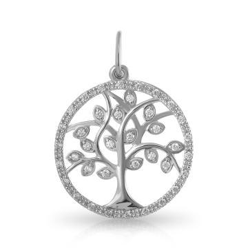 Подвеска Дерево из серебра с фианитами